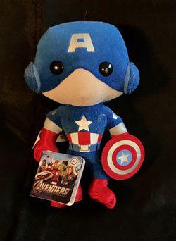Funko Marvel Plushies Captain America Doll With Original Tag for Sale in Lauderhill,  FL