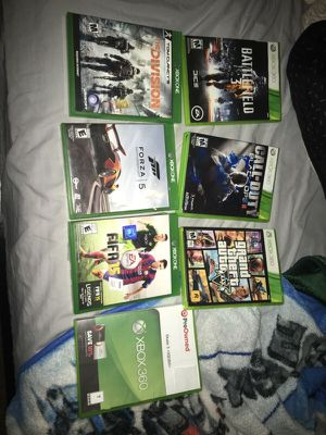 Xbox one Xbox 360 games for Sale in San Antonio, TX