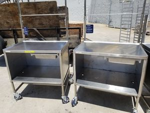 Stainless steel table/ show table/demo cart for Sale in Orlando, FL