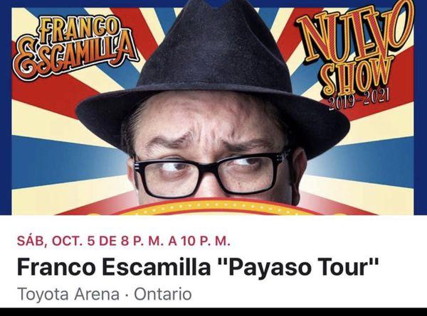 Tickets Franco Escamilla