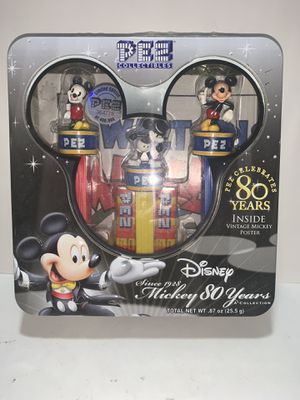 PEZ and Disney History Mickey Mouse 80 Years Poster Collector Set Tin - 2007 - factory sealed for Sale in Freehold, NJ