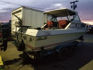 1979 21 foot Glasply with trailer. Needs motor and outdrive, best to bolt a bracket and use an outboard, gain Tons of floor space. for Sale in Enumclaw, WA