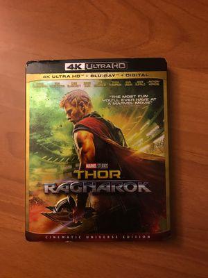 Thor Ragnarok 4k UHD for Sale in Corona, CA