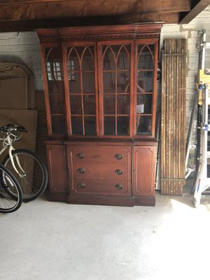 Beautiful Antique China Cabinet for Sale in Park Ridge, IL