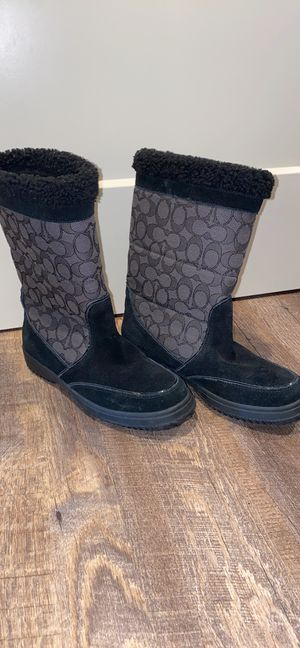 COACH black & gray boots for Sale in Wenatchee, WA