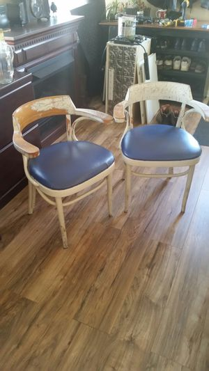2 chairs country type great condition needs your paint color! for Sale in US