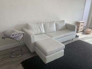 White leather couch for Sale in Miami, FL