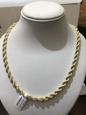 10K Real Gold 5.5 MM Rope Chain 24 Inches For Sale! for Sale in Indianapolis, IN