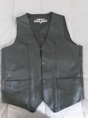 Leather motorcycle vest brand new for Sale in Wallington, NJ