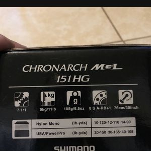 Shimano Chronarch Mgl Baitcaster for Sale in Stockton, CA