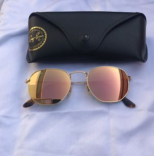 Ray ban pink lenses hexagon sunglasses for Sale in Washington, DC