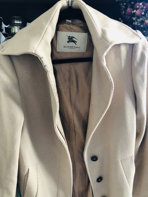 Wool Burberry Coat-under the knee for Sale in San Francisco, CA
