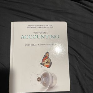 Horngren's Accounting 2nd Custom Edition For Brookdale Community College for Sale in Marlboro Township, NJ