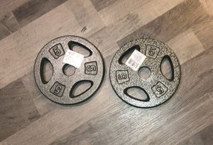 """Pair of 5lb barbell plates (1"""") for Sale in Centreville, VA"""