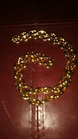 Gf gucci style mariner link gold long necklace for Sale in Boston, MA