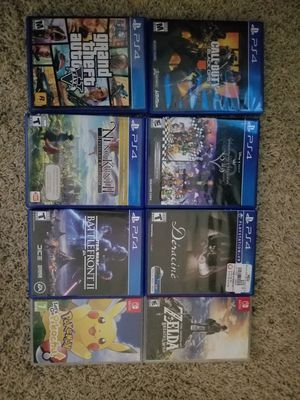 Ps4 + switch games & super nes / snes classic for Sale in Whittier, CA