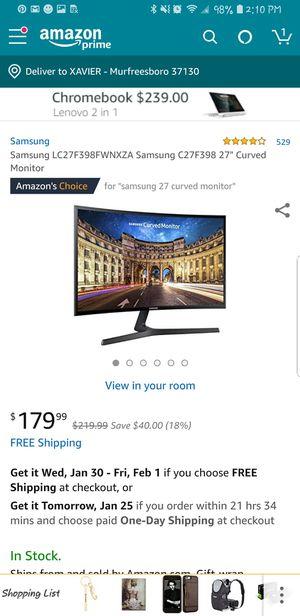 "Samsung 27"" curved monitor for Sale in Murfreesboro, TN"