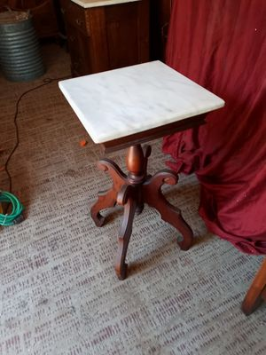 Antique Victorian marble top lamp table for Sale in Hayward, CA