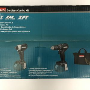 Makita 18-Volt LXT Lithium-Ion Sub-Compact Brushless Cordless 2-piece Combo Kit (Driver-Drill/ Impact Driver) 2.0Ah for Sale in Westminster, CA