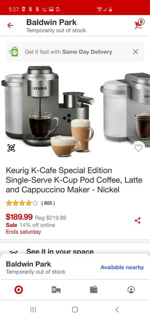 Keurig K-Cafe Special Edition for Sale in City of Industry, CA