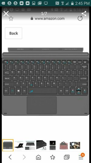 Arteck Microsoft Surface Go Type Cover, Ultra-Slim Portable Bluetooth Wireless Keyboard with Touchpad for Surface Go 2 (202 for Sale in Palmdale, CA