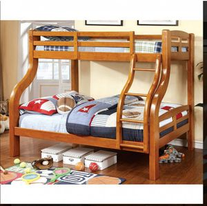 BRAND NEW TWIN FULL BUNK BED ADD MATTRESS TWIN AND FULL ADD FURNITURE AVAILABLE LITERA INDIVIDUAL MATRIMONIAL for Sale in Montclair, CA