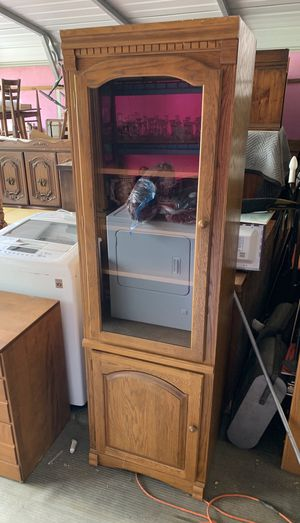 Tall Oak entertainment display cabinet for Sale in Freedom, PA