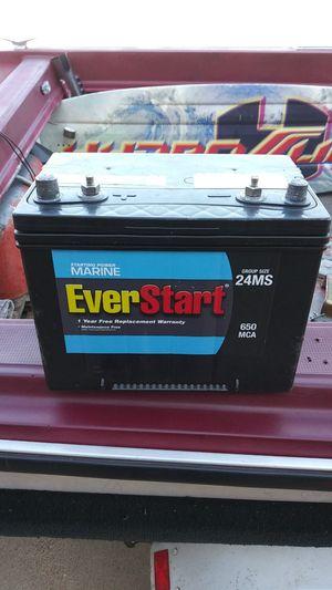650 CCA EverStart marine battery brand new for Sale in Wichita, KS