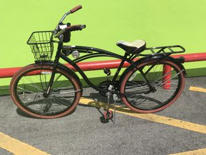 """Huffy Nel Lusso 26"""" Men's Single Speed Cruiser Bike With Rack On Back, Basket In Front & Cup / Phone Holder $74.99 for Sale in Tampa, FL"""