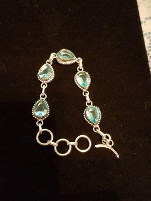 It blue topaz bracelet for Sale in Millersville, MD