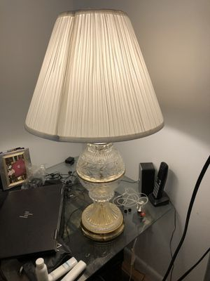 Nice crystal lamp with shade. 28 inches high. for Sale in Rockville, MD