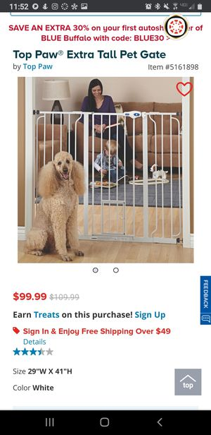 Top Paw dog gate for Sale in Walnut Creek, CA