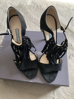 Prada black suede fringe for Sale in Los Angeles, CA