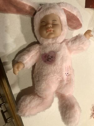 BE MY VALENTINE ❤️ PINK BABY GIRL DOLL BUNNY RABBIT 🎁 for Sale in Macomb, MI