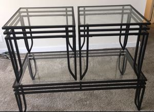 Glass table with 2 end tables for Sale in Silver Spring, MD