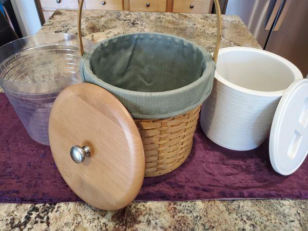 Longaberger Ice Bucket Basket (dated 2003)