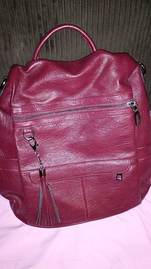 Red leather womens backpack purse for Sale in Las Vegas, NV