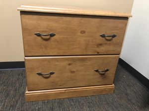 Nice wood filing cabinet. Legal size. for Sale in Albuquerque, NM