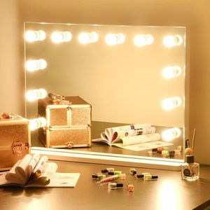34x26 inch WHITE Large Vanity Mirror with Lights, Hollywood Lighted Makeup Mirror with 12 Dimmable LED Bulbs $215 for Sale in Chino Hills, CA