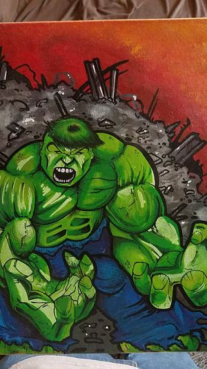 Hulk canvas 13x11 for Sale in Las Vegas, NV