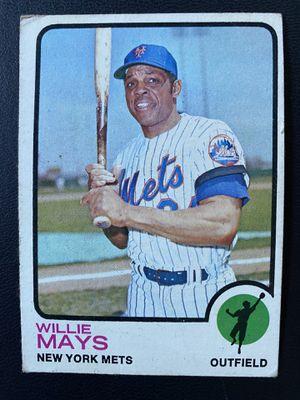 1973 Topps baseball Willie Mays card for Sale in Garden Grove, CA