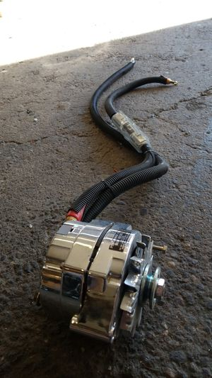 225 amp chrome plated GM large case alternator internally regulated for Sale in Seattle, WA