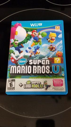 Nintendo Wii U New Super Mario's Bros with Luigi U for Sale in Indian Trail, NC