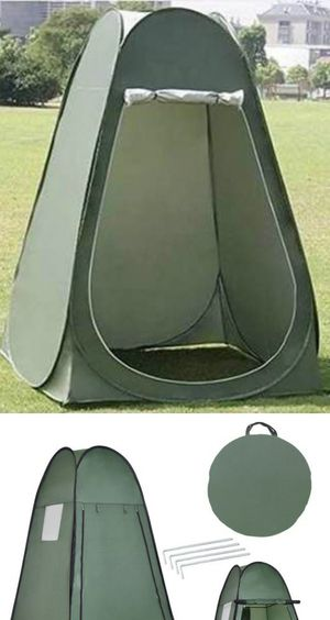 New in box 40x40x75 inches tall ez pop up portable camping dressing outdoor changing room grey color with roll up door carrying bag for Sale in Whittier, CA