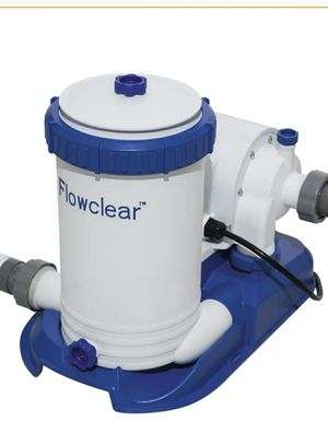 Bestway 58392E Flowclear 2,500 Pool Filter Pump, One Size, White for Sale in NJ, US