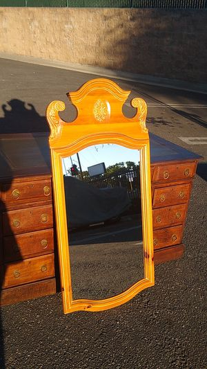 Decorative pine wall mirror for Sale in Los Angeles, CA