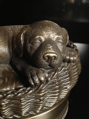 Beautiful Large Bronze Dog Cremation Urn - New Out of Box for Sale in Edmonds, WA