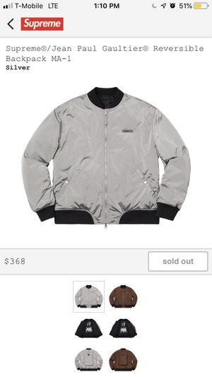 Supreme Jean Paul Gaultiar Reversible Backpack Bomber Jacket Gucci Jordan 1 for Sale in Westlake, MD