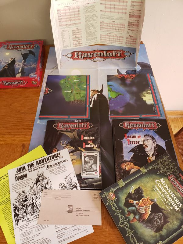Tsr ravenloft box campaign 1992 D&D