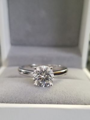 1.5ct Round Cut S925 Sterling Silver Lab Diamond Solitaire Accent Ring Size 6,7 for Sale in Aspen Hill, MD